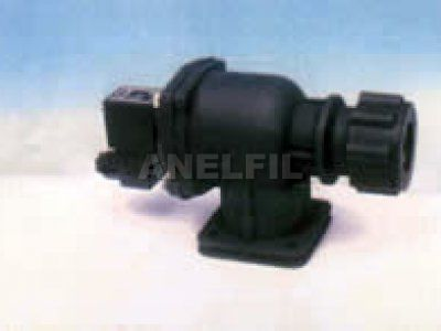 Fitted type, flange equipped valve.